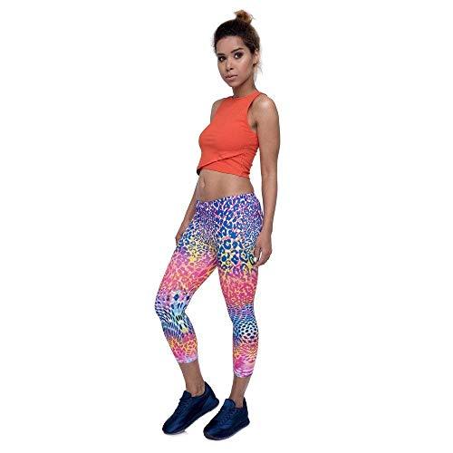 De 4 Mujer Ejercicio Color Yoga Gimnasio Leggings Chicos Verano Clásico Pierna 3 Lgc45780 Leopardo Diseño Pantalones Nuevo Capri Media dH6xqSdX
