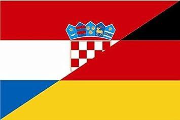 U24 Aufkleber Kroatien Deutschland Flagge Fahne 15 X 10 Cm Autoaufkleber Sticker Auto