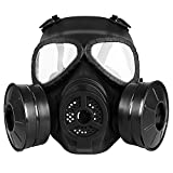M04 Airsoft Tactical Protective Mask, Full Face Eye Protection Skull Dummy Toxic Gas