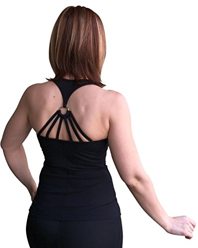 Sexy Workout Tops, Fitness Tops, Cute Yoga Tops TT2320 Black (Small)