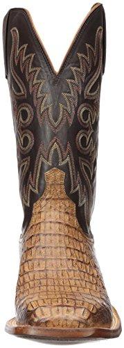 Lucchese Bootmaker Heren Fisher Western Boot Tan Gepolijst / Chocolade
