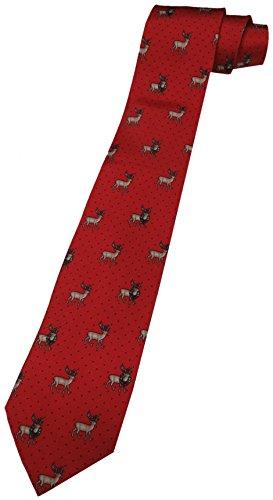 - Tommy Hilfiger Neck Tie Christmas Red w/ Reindeer