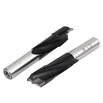uxcell 13mm Dia Carbide Tip Brad Point Boring Drill Bit Woodworking Tool 2pcs