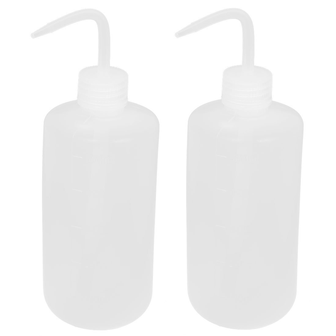 sourcingmap® 500mL Right Angle Bent Tip Plastic Liquid Storage Squeeze Bottle 2pcs a15073000ux0171
