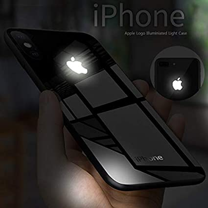 low priced 86a0a 55133 Vaku LEKE Laser LED Light Illuminated Apple Logo Club Series Case Back  Cover for Apple iPhone XR (Black)