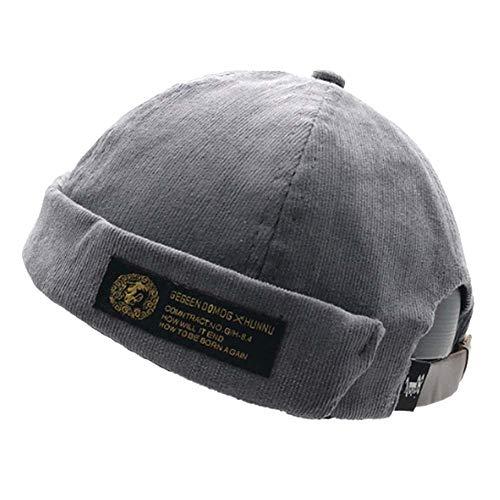 - Clape Corduroy Docker Leon Brimless Hat  Work Beanie Rolled Cuff Harbour Watch Cap Hat