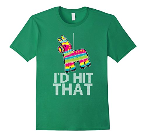 Tequila Shot Girl Costumes (Mens Cinco De Mayo - I'd Hit That Funny Mexican Party T Shirt Large Kelly Green)