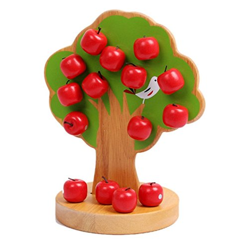 TOOGOO Wooden Math Toys Learning Education Educational Magnetic Apple Tree for Children Boys (The Boy And The Apple Tree Story)