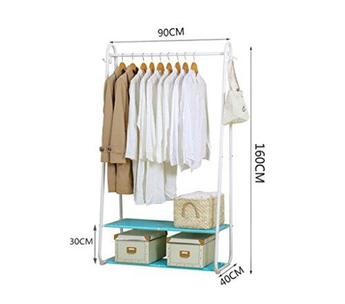 LQQGXLModern minimalist coat rack, Rack hanger double shelve