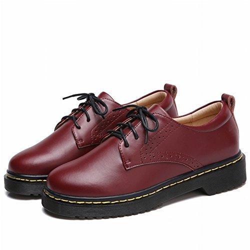 Calzado Informal de Mujer de Moda con Zapatos Gruesos Y Planos , vino rojo , EUR36.5