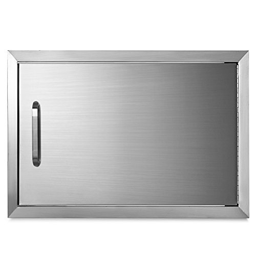 Mophorn BBQ Access Door 17 x 24 Inch Horizontal Access Door Stainless Steel Single Door Flush Mount Outdoor Kitchen