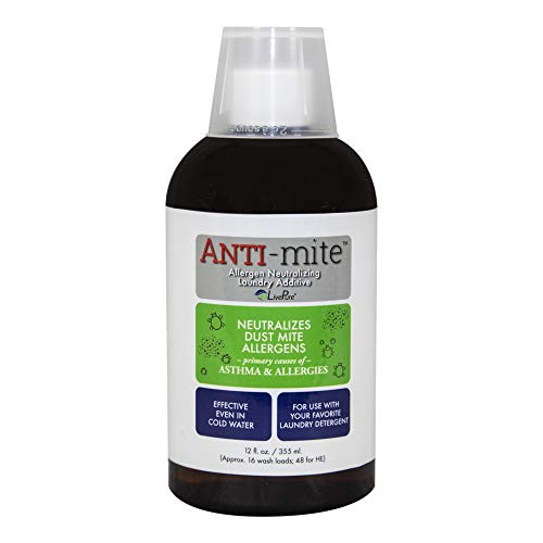 (LivePure LP-AM-12 12 Oz. Anti Laundry Additive for Dust Mite and Allergen Relief, White)