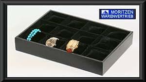 Bandeja de joyas VIENA bandeja de joyas de la joyería titular bandeja plantilla de cartón caja de joyas de plántulas bandeja bandeja de joyas caja de collar Pulseras Collares Broches Relojes Anillos anillos de dedo, entre otras joyas caja de joyería de la joyería de contenedores para la exhibición de la joyería y la presentación de la mercancía reloj de la exhibición del reloj caja de reloj de los relojes de la bandeja de carga