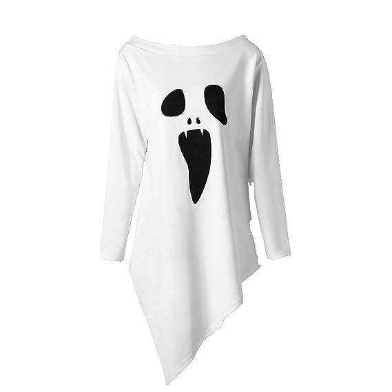 EUZeo,Mujer Casual Camisetas Otoño Las Mujeres Halloween Blusas Verano Tallas Grandes Sexy Tops Manga