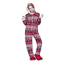 Honeystore Women's Onesie Fashion Red Bird Printed Playsuit Jumpsuit Onesie