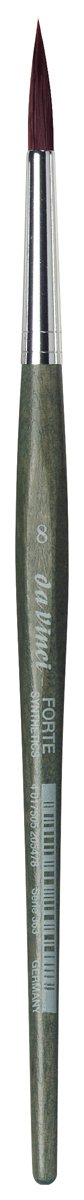da Vinci Modeling Series 363 Forte Gaming and Craft Brush, Round Extra-Strong Synthetic with Blue-Green Handle, Size 8