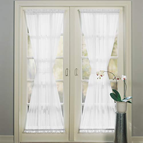 (No. 918 Emily Sheer Voile Single Curtain Door Panel, 59
