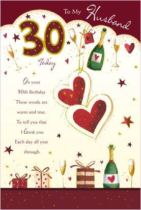 Husband 30th birthday card amazon electronics husband 30th birthday card m4hsunfo