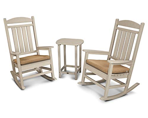 POLYWOOD Rocking Chair Set, Sand/Sesame