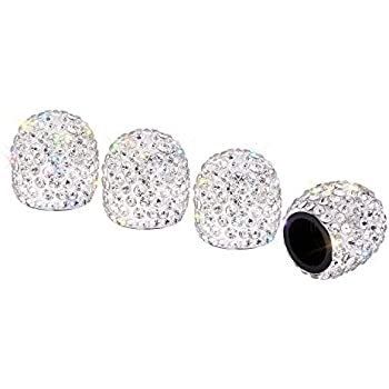 Accessories 4pcs Crystal Rhinestone Car Tire Valve Caps Diamond Shining Dustproof Caps Car Accessories For Women Bling Car Charms Atv,rv,boat & Other Vehicle