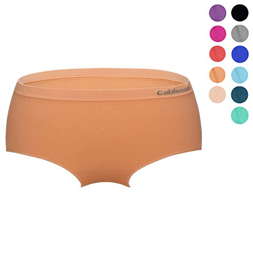 810357705a80 CableMax Underwear Womens Briefs Moisture Wicking Hipsters Seamless Bikini  Panties Super Thin Breathable Mesh