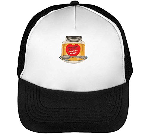 How About A Little Spooning Honey Gorras Hombre Snapback Beisbol Negro Blanco