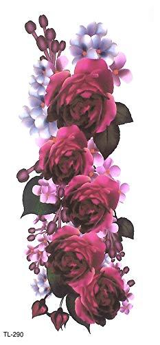 Tatuaje de rosas para fiesta o festival, TL290: Amazon.es: Belleza