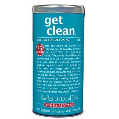 The Republic of Tea - get clean No. 7 Herb Tea for Detoxing Tea, 36 Tea Bags (Pack of 3)