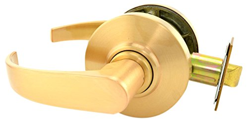 Satin Bronze Finish Passage Function Schlage commercial AL10NEP612 AL Series Grade 2 Cylindrical Lock Neptune Lever Design