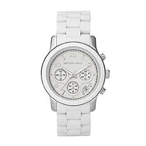 Michael Kors White Polyurethane Chronograph Ladies Watch MK5423
