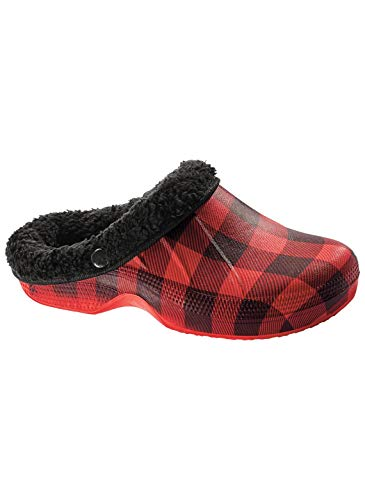 Check Clogs Carol Lined Women's Wright Gifts Fleece Buffalo 0Hwr0Xq8
