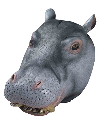Forum Novelties Men's Deluxe Adult Latex Hippo Mask, Multi Colored, One -