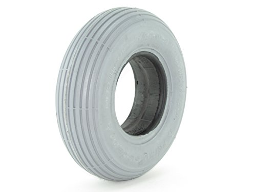 Ribbed Wheelchair Tires (2.80/2.50-4 Solid Foam Filled Tire - Ribbed Tread - Primo Spirit)