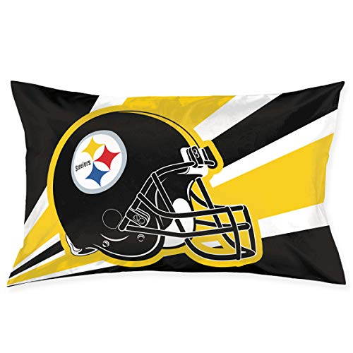 (Marrytiny Custom Pillowcase Colorful Pittsburgh Steelers American Football Team Bedding Pillow Covers Rectangular Pillow Cases for Home Couch Sofa Bedding Decorative - 18x30 Inches)