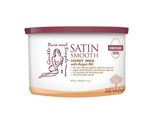 SATIN SMOOTH Honey Wax with Argan Oil, 14 oz by SATIN SMOOTH ()