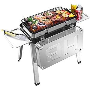 Griglia per barbecue Tavolo da barbecue portatile a carbonella Addensare Pieghevole griglia BBQ Griglia smaltata in… 1 spesavip