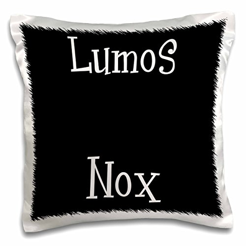 pography - Lumos and Nox - meaning light and dark night - lightness or darkness on or off - Black and White - 16x16 inch Pillow Case (pc_123127_1) (Nox Bedding)