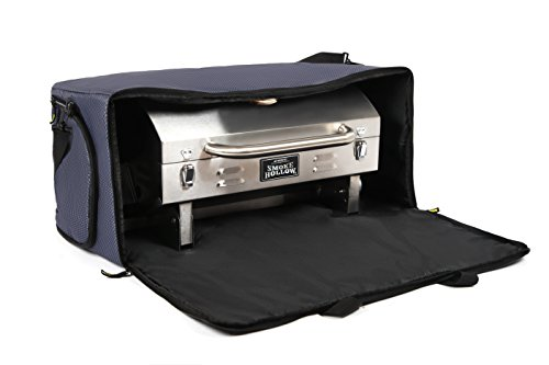 Kenley Smoke Hollow Grill Carry Bag - Storage Case Cover for Smoke Hollow 205 Tabletop Gas BBQ - Pockets for Propane & Accessories - Heavy Duty, Padded & (Chef Portable Propane Gas Grill)
