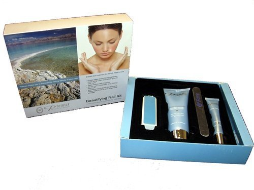 Dead Sea Premier Beautifying Nail Kit Milk and Honey - Body Lotion,Cuticle Oil,Nail File,Buffing Block -