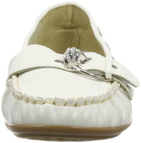 Andrea Conti 0873010017 Damen Mokassin Weiß (Weiß 001)