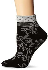 Goodhew Women's Floral Wrap Socks, Small/Medium, Black