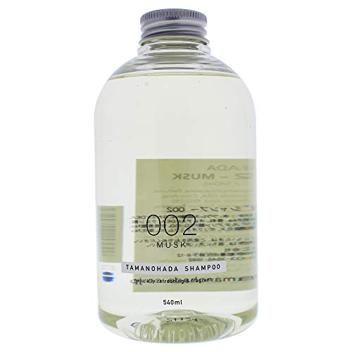 TAMANOHADA Shampoo Naturally Refreshing and Fragrant, No. 002 Musk, 18.25 Fluid Ounce