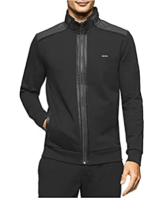Calvin Klein Men's Full-Zip Mixed-Media Jacket