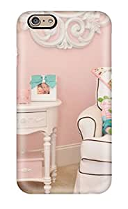 Premium Iphone 6 Case - Protective Skin - High Quality For Pink And White Girl8217s Room With Chair Table And Mirror