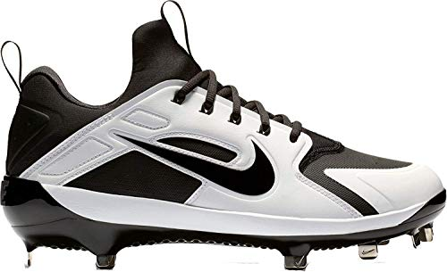 Nike Men's Alpha Huarache Elite Baseball Cleats(Black/Black, 10.5 D(M) US)