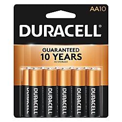 Duracell Coppertop Alkaline AA Batteries - 10 - Duracell Aa