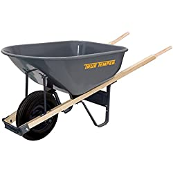 The AMES Companies, Inc True Temper 6-Cubic Foot Steel Wheelbarrow - R625
