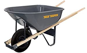 True Temper 6-Cubic Foot Steel Wheelbarrow - R625