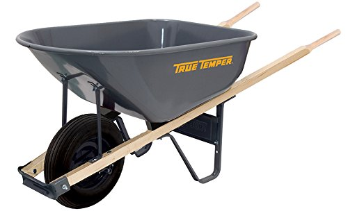 True Temper R625 6 Cubic Foot Steel Wheelbarrow
