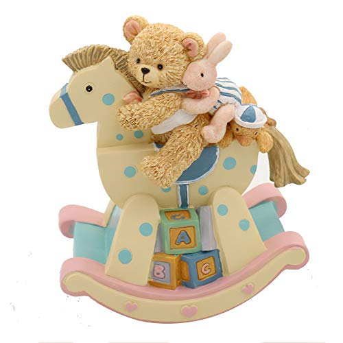 loveforyou Music Box for Girls,Boy,Baby.Kingdom 18501 Bear on The Rocking Chair Musical Boxes, Best Birthday Gift for Kids/Girls/Children (Canon,Pink and Yellow)